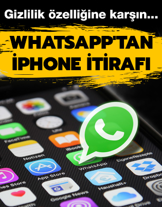 WhatsApp'tan iPhone itirafı
