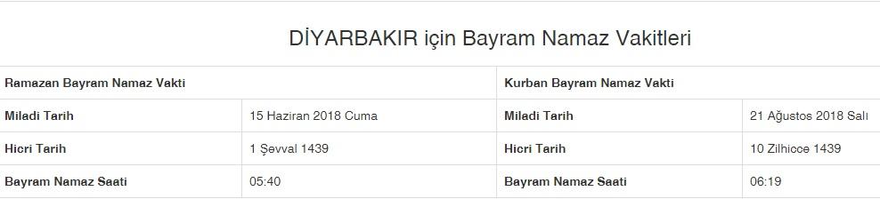 Myke Top Ten Diyarbakir Ogle Namazi Kacta Okunuyor