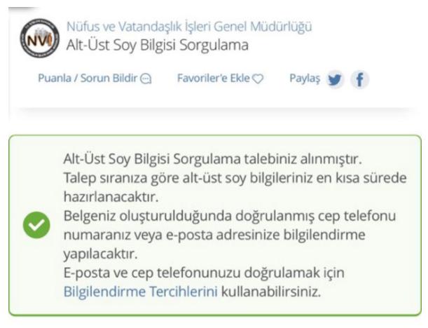 E Devlet Girişi Alt üst Soy Ağacı Son Dakika Bilgisi Turkiyegovtr