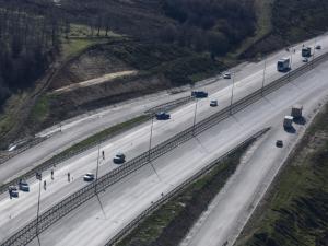 İİstanbul'da jandarmadan helikopterle trafik denetimi