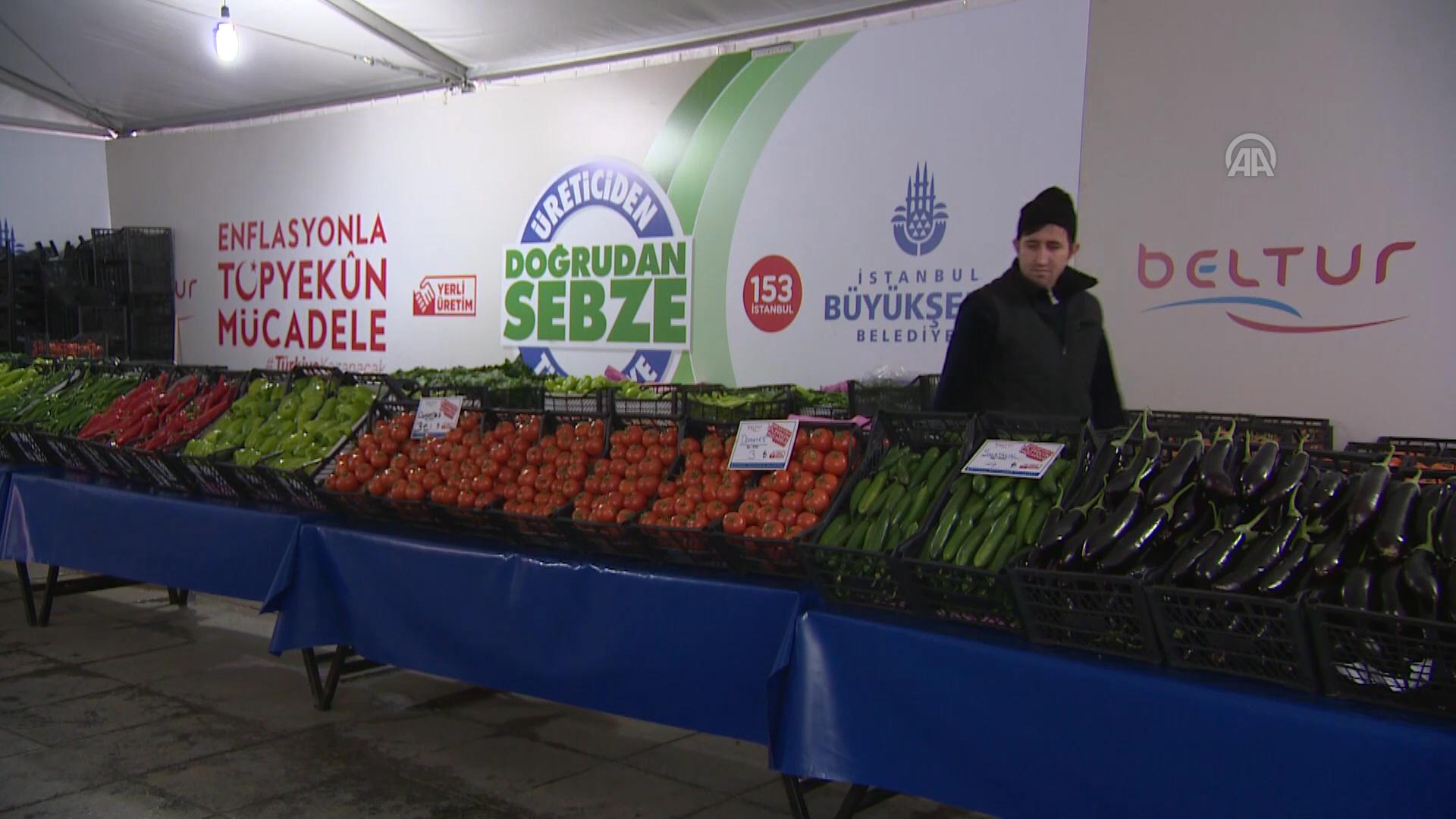 İstanbul Büyükşehir Belediyesi, 34 ilçede 50 yerde bir hafta önce hizmet vermeye başlayan tanzim sat
