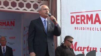 CHP Genel Başkanı Kemal Kılıçdaroğlu 31 mart yerel seçimleri için düzenlediği mitinginde Cumhurbaşka