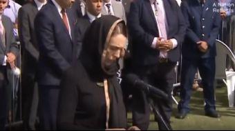 Yeni Zelanda Başbakanı saygı duruşu öncesinde Peygamber Efendimizin, ´Müminler bir vücut gibidir.´ h