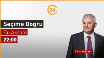 Cumhur İttifakı İstanbul Büyükşehir Belediye Başkan Adayı Binali Yıldırım, 24'e konuk oluyor.