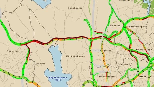 TEM'de+trafik+kazas%C4%B1+trafik+kilit