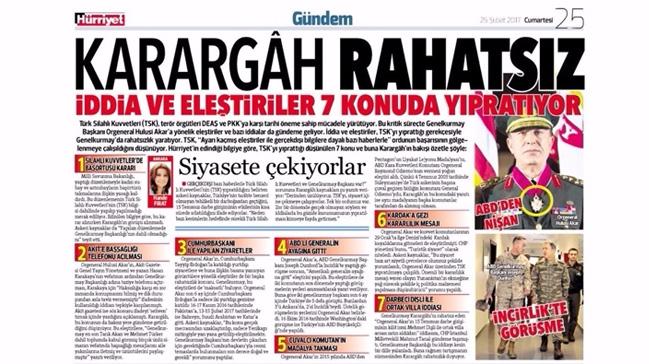 Hürriyet'ten 'Karargah rahatsız' manşetine skandal savunma: Editoryal hata