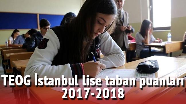 Istanbul Lise Taban Puanları Boş Kontenjanlar 2017 2018 Teog Yep