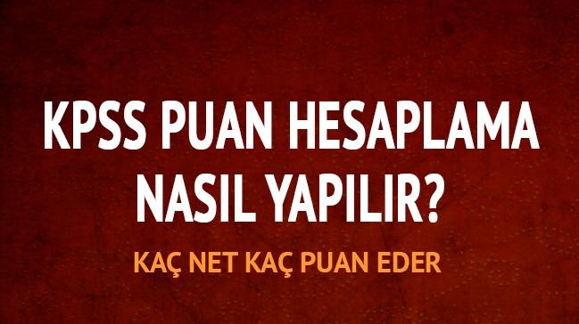 """KPSS lisans kaç net kaç puan eder"""""""