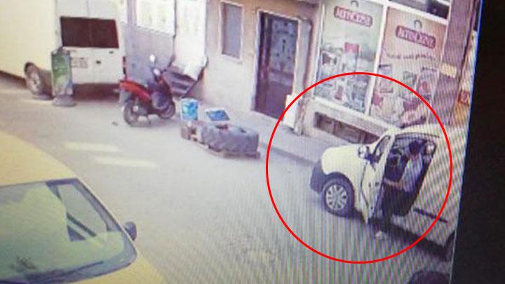 Bursa'da aracın üzerindeki anahtarı görünce arabayı çaldı