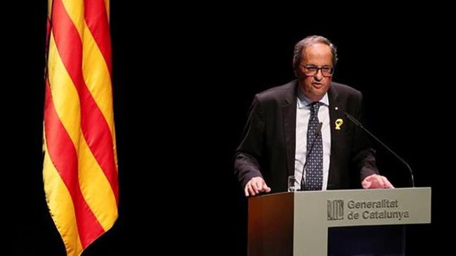 Katalan lider Torra, İspanya'yı tehdit etti: Azınlık hükümetine olan desteği çekeriz
