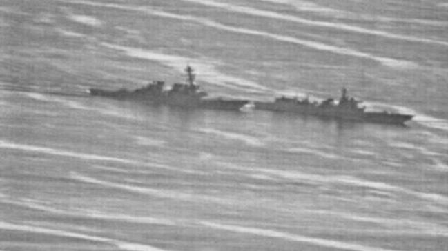 Çin ve ABD savaş gemilerinin karşılaşma anına ait görüntüler ortaya çıktı