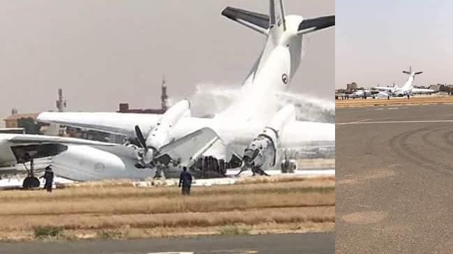 Sudan'da Uluslararası Havalimanı'nda meydana gelen kaza nedeniyle hava trafiğine kapatıldı