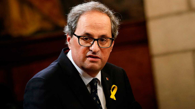 Katalan lider Quim Torra, Trump ve Papa'dan destek istedi