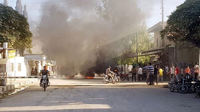 Suriye'nin Cerablus kentinde okul yakınında patlama meydana geldi