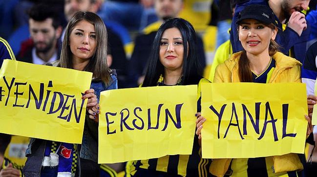 Fenerbahçe tribünlerinden Ersun Yanal sesleri yükseldi