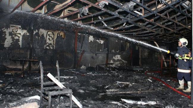 Ankara'da bir restoranda yangın çıktı