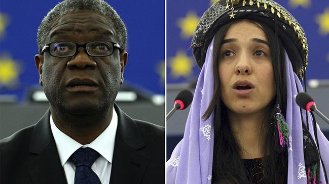 Nobel Barış Ödülü'nün bu yılki sahibi Doktor Denis Mukwege ve Ezidi aktivist Nadia Murad oldu