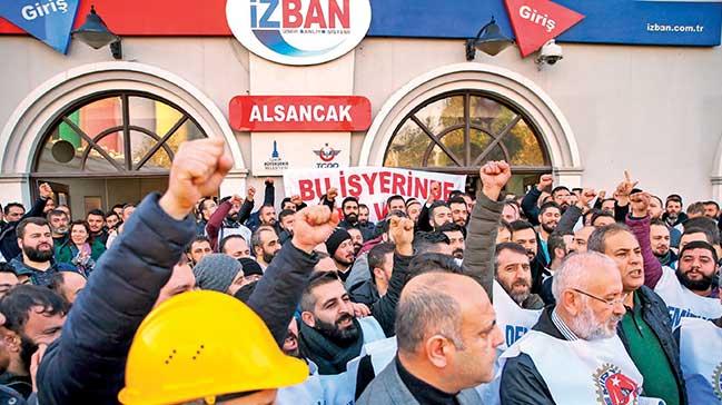 İzmir'de hayat durduran grev