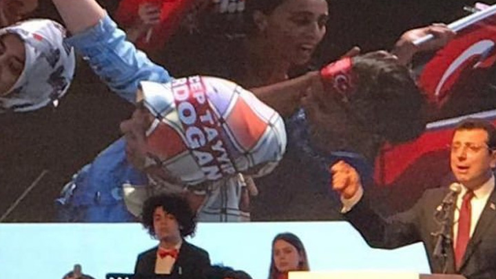 İmamoğlu, tanıtım toplantısında AK Parti mitinglerine ait görüntüler kullandı