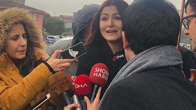 Oyuncu Deniz Çakır, İstanbul Adliyesi'nde ifade verdi