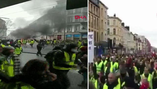 'Sarı yelekliler' Fransa sokaklarında