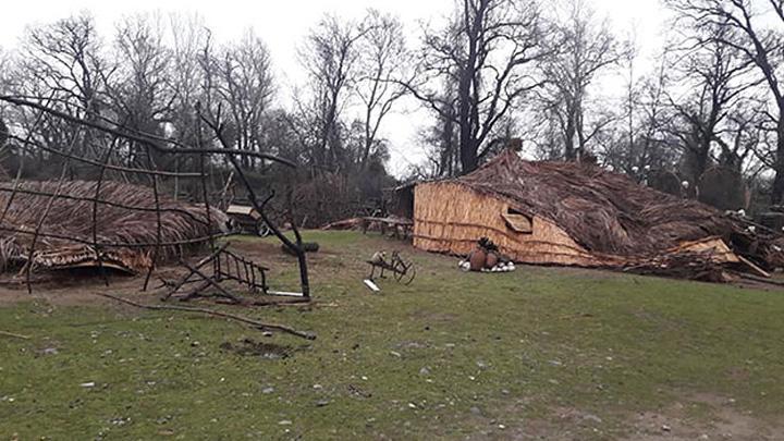 'Recep İvedik' setinden hatıra bungalovlar aşırı yağışta yıkıldı