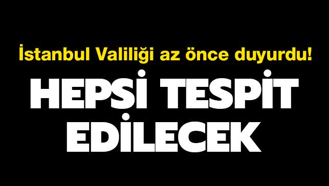 İstanbul Valiliği: Afet riski en yüksek yerler tespit edilecek