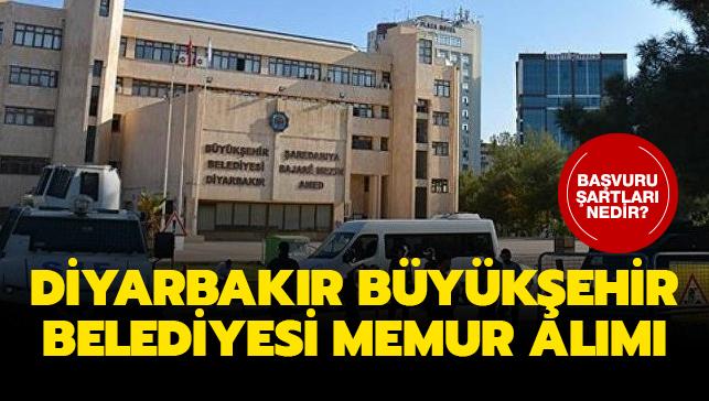 Diyarbakır Büyükşehir Belediyesi memur alımı yapıyor