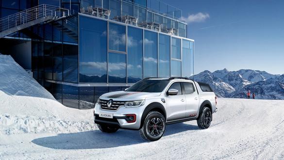 Renault pick-up'ına buzullara özel donanım