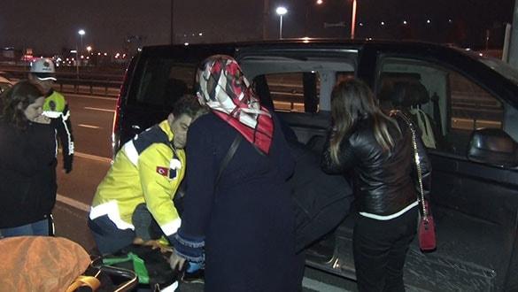 Uber şoförü alkollü şekilde kaza yaptı: 1 yolcu yaralı