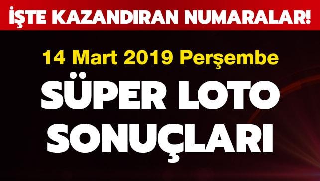 Süper Loto 14 Mart çekiliş sonuçları (2019)