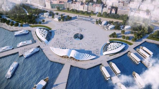 Kabataş Meydanı ve Transfer Merkezi Projesi'nin ilk etabı yarın açılıyor