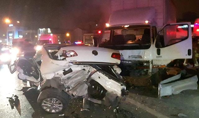 Basın Ekspres'te trafik kazası: 3 yaralı