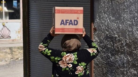 AFAD Afrin'e gıda desteğini sürdürüyor