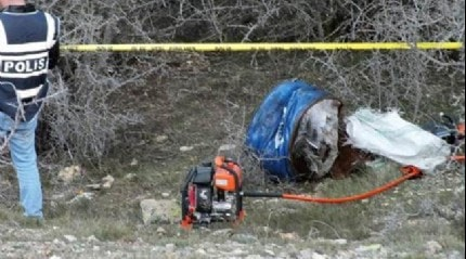 Preslenmiş varil içerisinde erkek cesedi bulundu