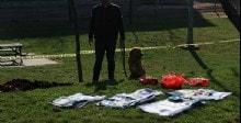 Nevruz alanında toprağa gömülü Öcalan posteri bulundu