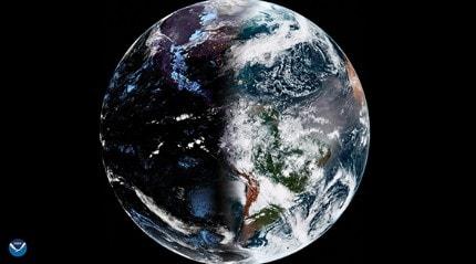 36 bin kilometreden dünyanın en ilginç görüntüsünü çekti