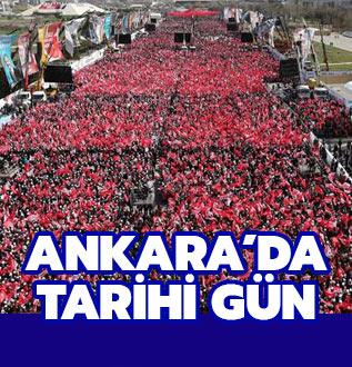 Cumhur İttifakı'nın mitingine büyük ilgi! Tüm gözler Ankara'da