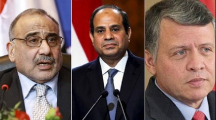 Ürdün Kralı Abdullah ve Irak Başbakanı Abdülmehdi darbeci Sisi ile bir araya gelecek