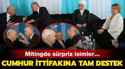 Başkan Erdoğan Yenikapı'da Bahçeli, Çiller ve Ağar ile biraraya geldi
