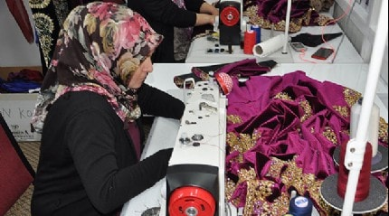 Elbistan'dan 6 ülkeye bindallı ve kaftan ihraç ediyor